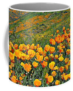 California Golden Poppies And Goldfields Coffee Mug
