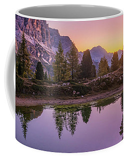 Coffee Mug featuring the photograph Calm Morning On Lago Di Limides by Dmytro Korol