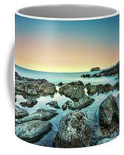 Calm Rocky Coast In Greece Coffee Mug