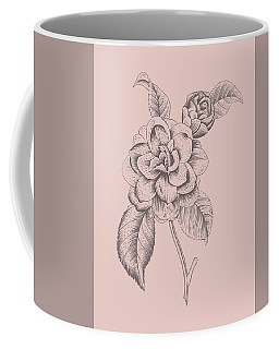Camellia Blush Pink Flower Coffee Mug