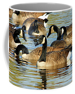 Coffee Mug featuring the photograph Canada Geese by Debbie Stahre