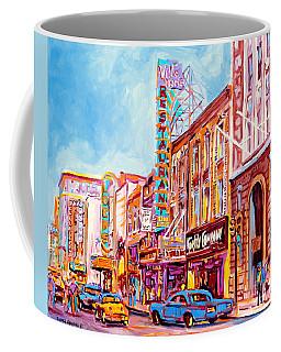 Canadian Art Montreal Scenes Downtown St Catherine Vintage Stores And Restaurants C Spandau Artist Coffee Mug