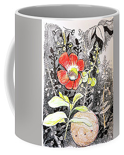 Cannonball Flower Botanical Coffee Mug
