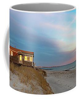 Cape Cod Beach House At Sunset Coffee Mug