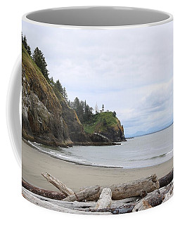 Cape Disappointment With Lighthouse And Beach Coffee Mug