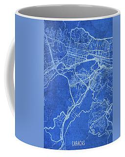 Caracas Venezuela City Street Map Blueprints Coffee Mug