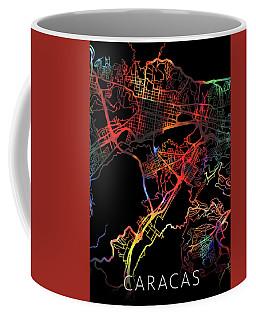 Caracas Venezuela City Street Map Watercolor Dark Mode Coffee Mug