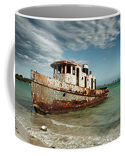 Coffee Mug featuring the photograph Caribbean Shipwreck 21002 by Rick Veldman