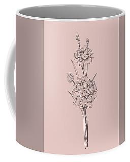 Carnation Blush Pink Flower Coffee Mug