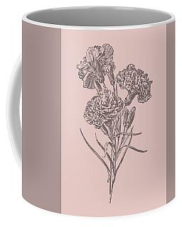 Carnations Bush Pink Flower Coffee Mug