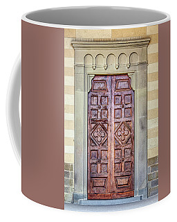 Carved Door Of Cortona Coffee Mug