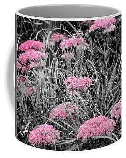 Carved Pink Butterfly Bush Coffee Mug