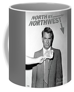 Cary Grant, Screen Test, Wardrobe Test, North By Northwest, Hair Mussed And Drunk Coffee Mug