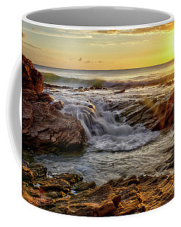 Cascading Sunset At Crystal Cove Coffee Mug