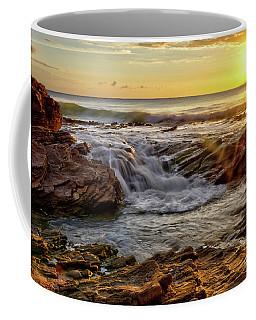 Cascading Sunset At Crystal Cove Coffee Mug