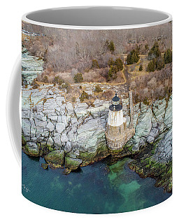 Coffee Mug featuring the photograph Castle Hill Lighthouse  by Michael Hughes