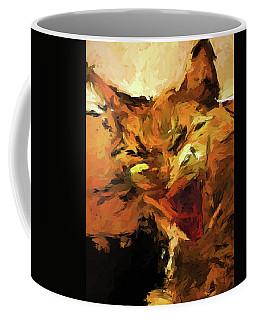Cat Cathartic Scream Coffee Mug