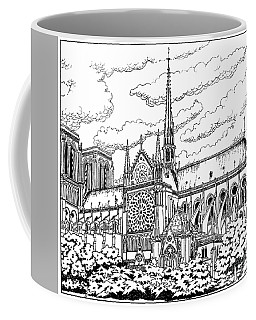 Coffee Mug featuring the painting Notre Dame De Paris- Our Lady Of Paris by William Hart McNichols