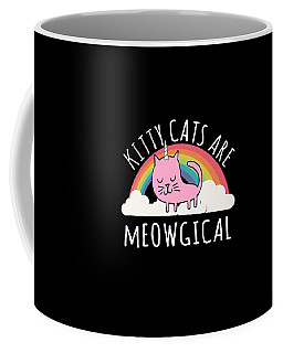 Coffee Mug featuring the digital art Cats Are Magical by Flippin Sweet Gear