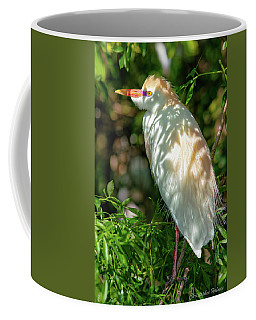 Cattle Egret In The Shade Coffee Mug