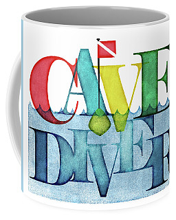 Cave  Diver Colorful Scuba Coffee Mug