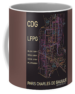 Cdg Paris Airport Coffee Mug