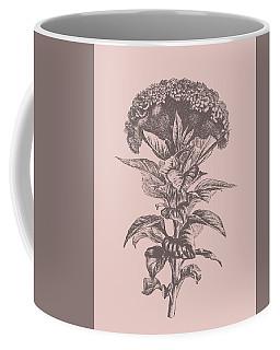 Celosia Blush Pink Flower Coffee Mug