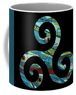 Coffee Mug featuring the drawing Celtic Spiral 2 by Joan Stratton