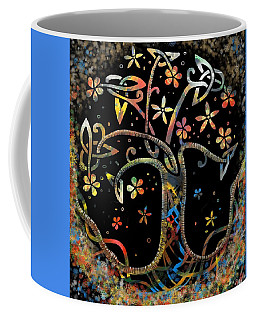 Coffee Mug featuring the drawing Celtic Tree Of Life by Joan Stratton
