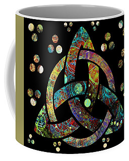 Coffee Mug featuring the drawing Celtic Triquetra Or Trinity Knot Symbol 4 by Joan Stratton