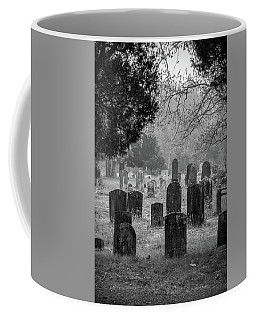 Coffee Mug featuring the photograph Cemetery In The Pines Bw by Kristia Adams