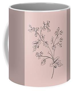 Cerasus Purple Flower Coffee Mug