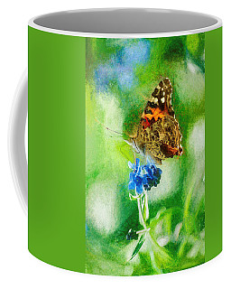 Chalky Painted Lady Butterfly Coffee Mug