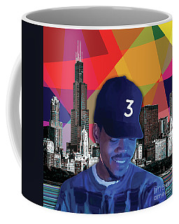 Coffee Mug featuring the painting Chance Chicago by Carla B