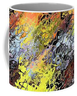 Chaos Abstraction Orange Coffee Mug