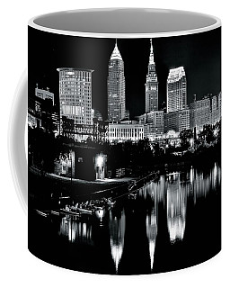 Charcoal Night View Of Cleveland Coffee Mug