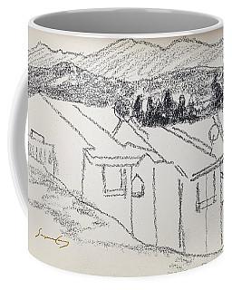 Charcoal Pencil Houses1.jpg Coffee Mug