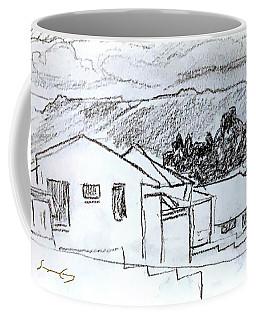 Charcoal Pencil Houses.jpg Coffee Mug