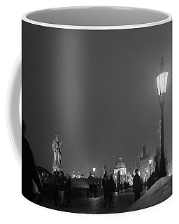 Coffee Mug featuring the photograph Charles Bridge At Night by Mark Duehmig
