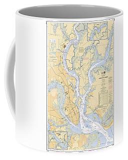 Charleston Harbor, Noaa Chart 11524 Coffee Mug