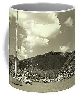 Charlotte Amalie Harbor In Sepia Coffee Mug