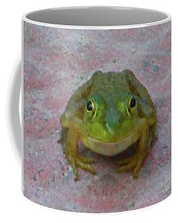 Coffee Mug featuring the photograph Charming American Bullfrog by Rockin Docks