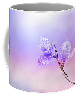 Charming Baby Leaves In Purple Coffee Mug