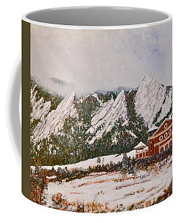 Coffee Mug featuring the painting Chautauqua - Winter, Late Afternoon by Tom Roderick