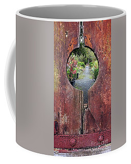 Coffee Mug featuring the painting Check In Here by Val Byrne