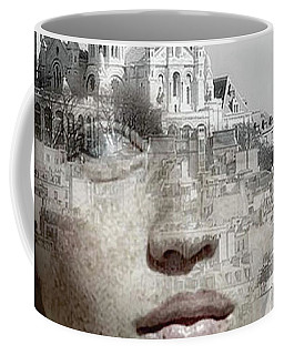 Coffee Mug featuring the painting Cherishing White Buildings by Arttantra