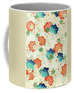 Cherry Blossoms And  Fallen Leaf- Japanese Traditional Pattern Design Coffee Mug