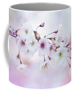 Cherry Blossoms In Pastel Pink Coffee Mug