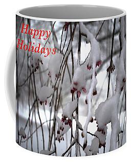 Cherry Blossoms In Snow Coffee Mug