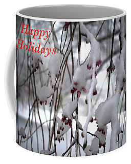 Cherry Blossoms In Snow Coffee Mug